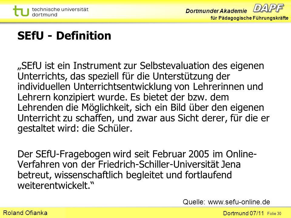 SEfU - Definition