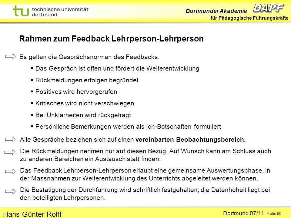 Rahmen zum Feedback Lehrperson-Lehrperson