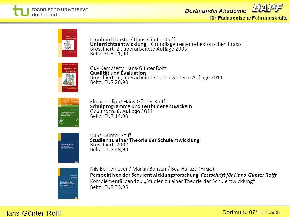 Leonhard Horster/ Hans-Günter Rolff Unterrichtsentwicklung – Grundlagen einer reflektorischen Praxis Broschiert. 2., überarbeitete Auflage 2006 Beltz: EUR 21,90