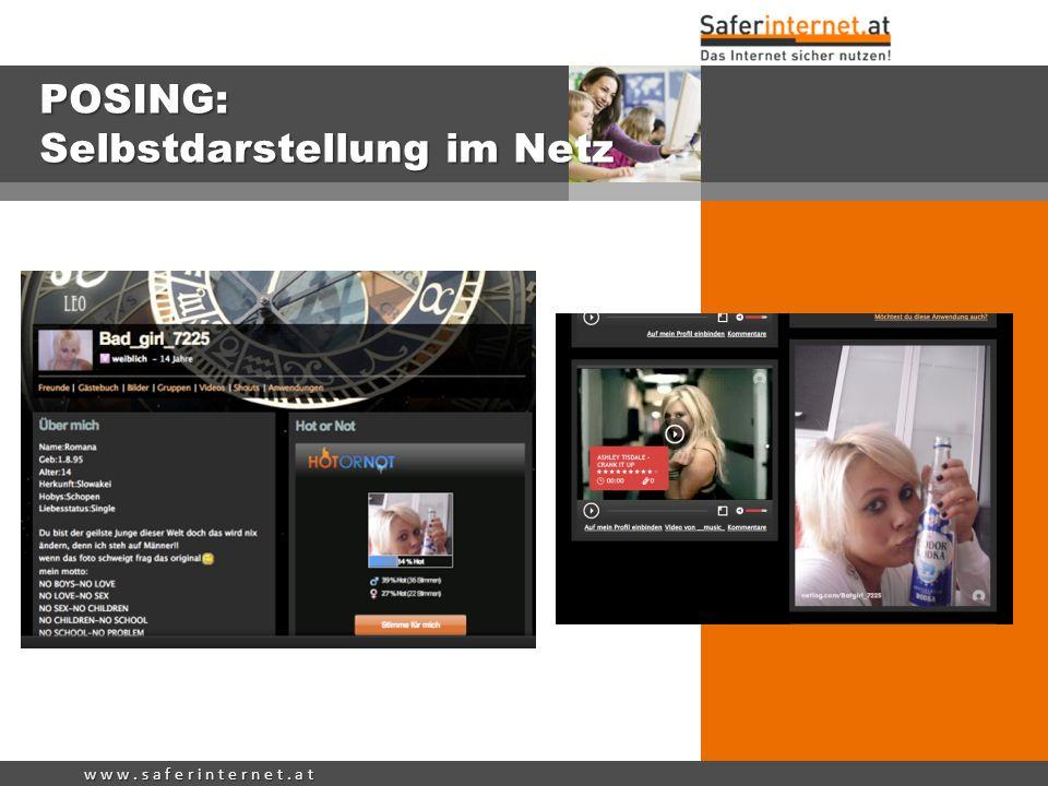 POSING: Selbstdarstellung im Netz
