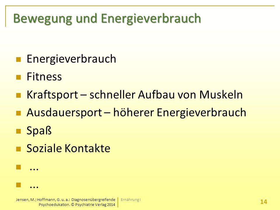 Bewegung und Energieverbrauch