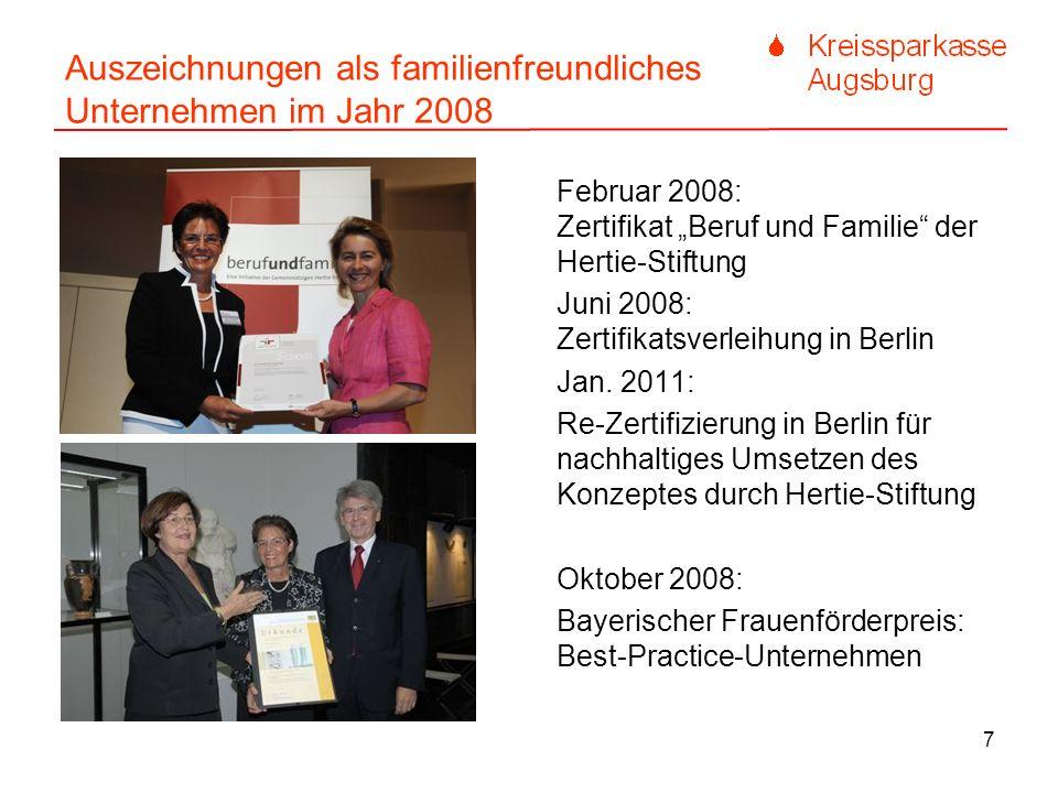 Auszeichnungen als familienfreundliches Unternehmen im Jahr 2008