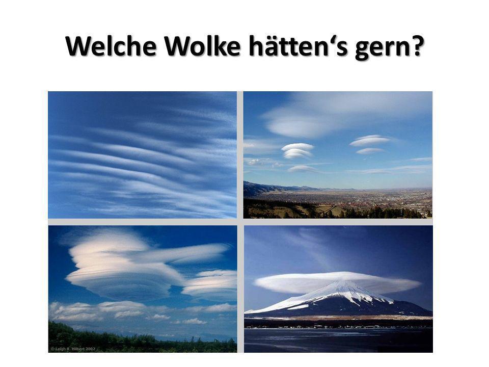 Welche Wolke hätten's gern