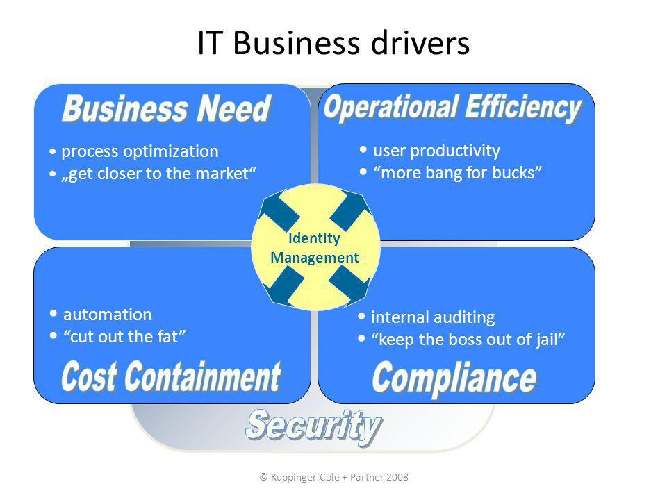 IT Business drivers Business Need Operational Efficiency