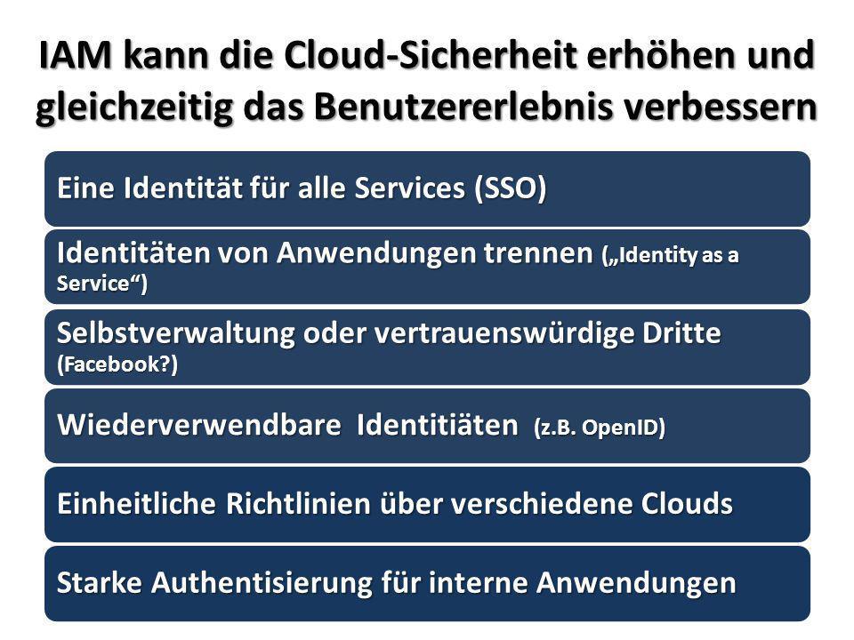 IAM kann die Cloud-Sicherheit erhöhen und gleichzeitig das Benutzererlebnis verbessern