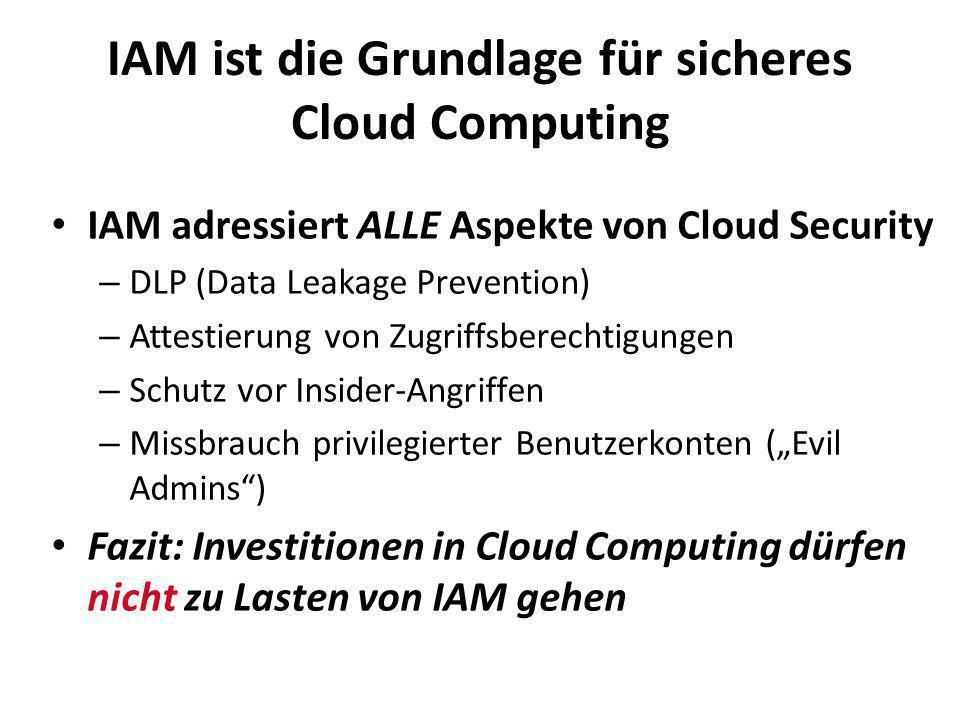 IAM ist die Grundlage für sicheres Cloud Computing