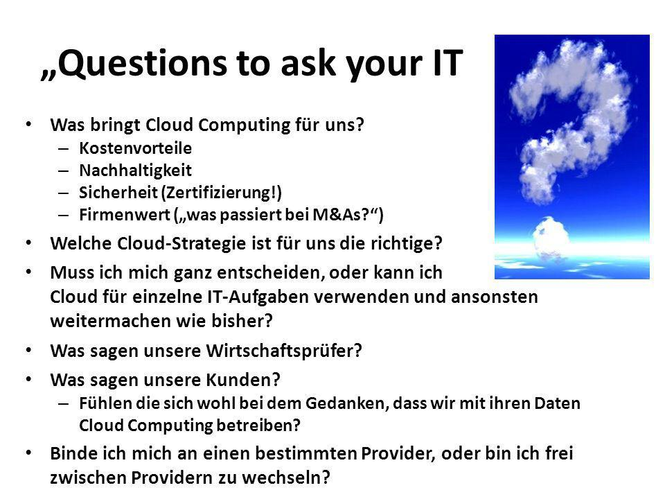 """""""Questions to ask your IT"""