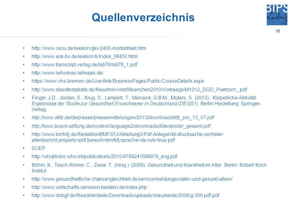 Quellenverzeichnis http://www.cecu.de/lexikon/gkv/2400-morbiditaet.htm