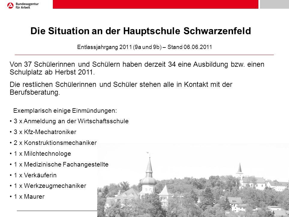 Die Situation an der Hauptschule Schwarzenfeld