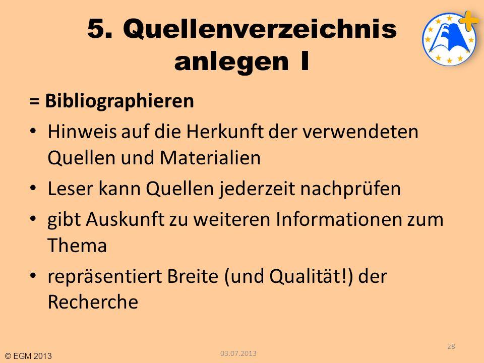 5. Quellenverzeichnis anlegen I