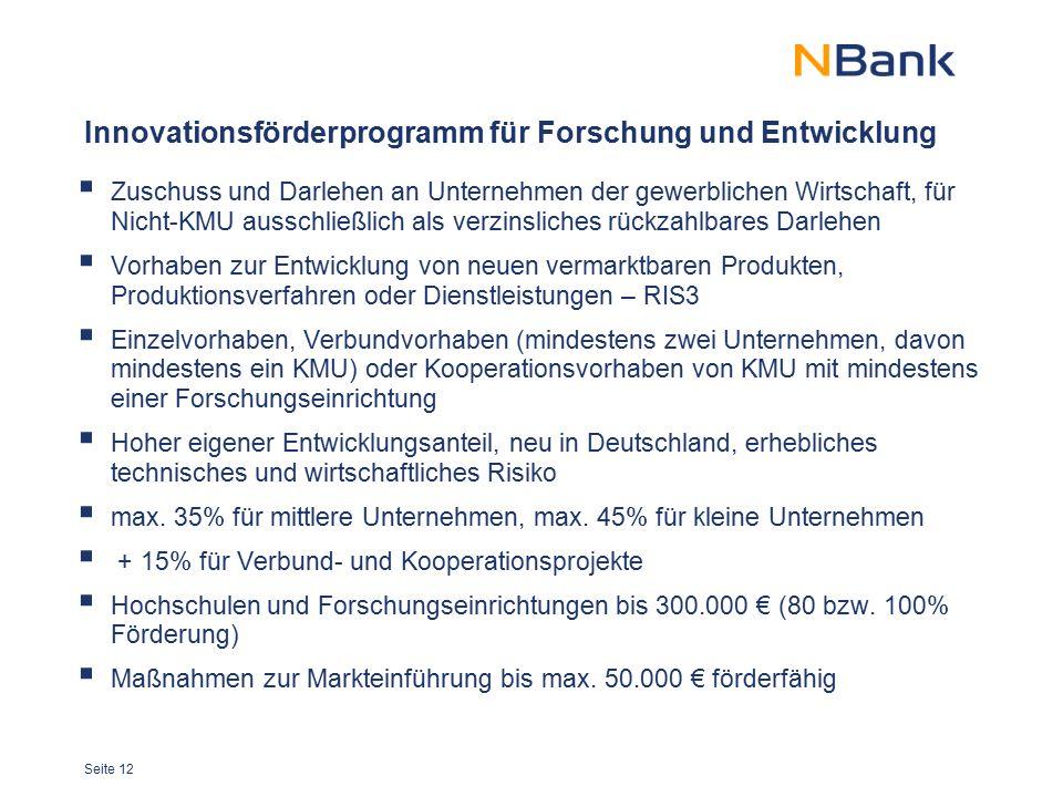 Innovationsförderprogramm für Forschung und Entwicklung