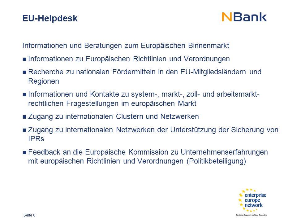 EU-Helpdesk Informationen und Beratungen zum Europäischen Binnenmarkt