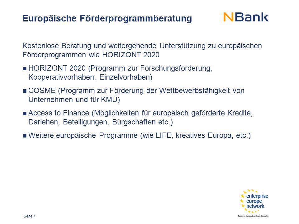 Europäische Förderprogrammberatung