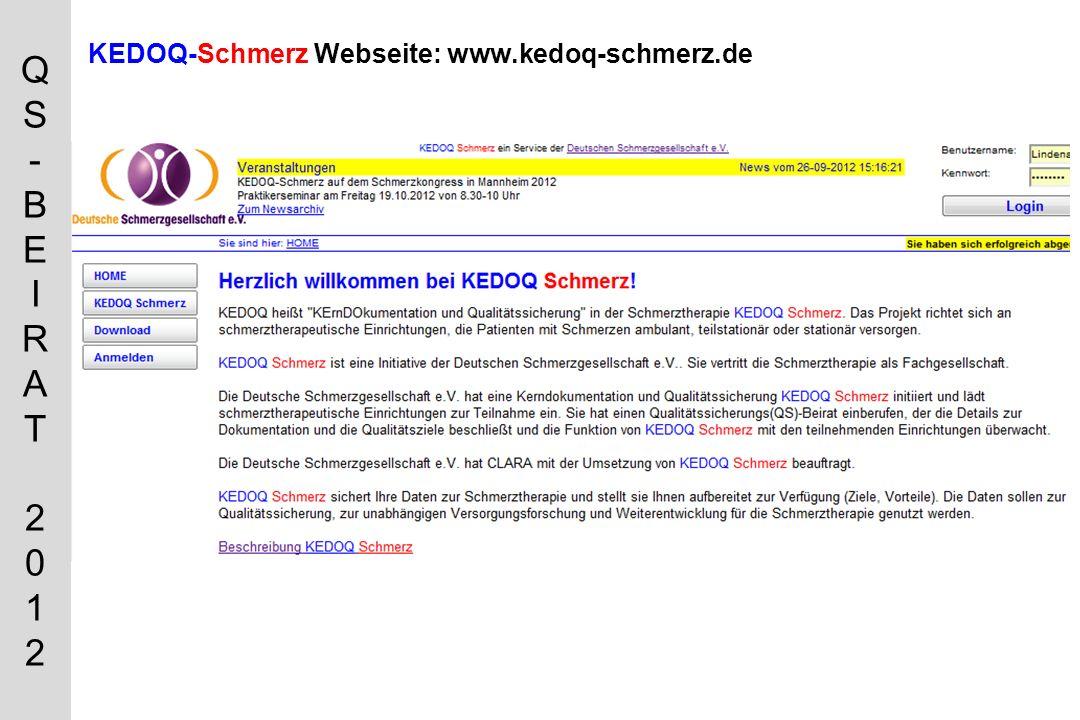 KEDOQ-Schmerz Webseite: www.kedoq-schmerz.de