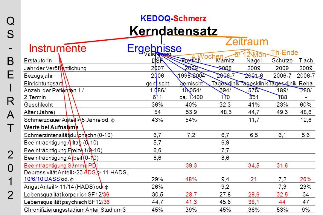 KEDOQ-Schmerz Kerndatensatz
