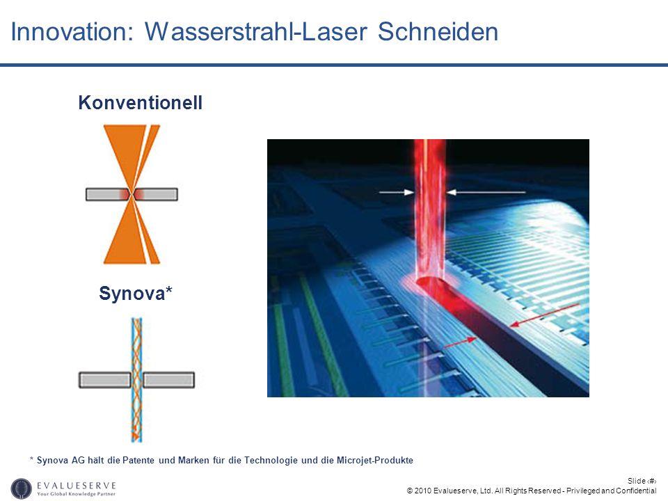 Innovation: Wasserstrahl-Laser Schneiden