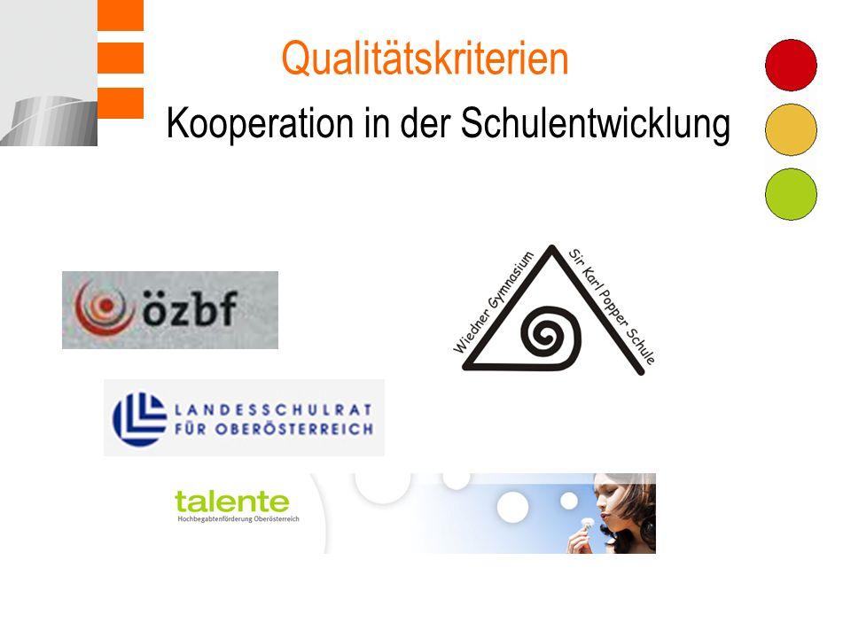Qualitätskriterien Kooperation in der Schulentwicklung