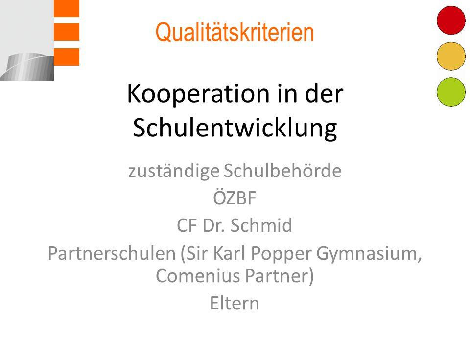 Kooperation in der Schulentwicklung
