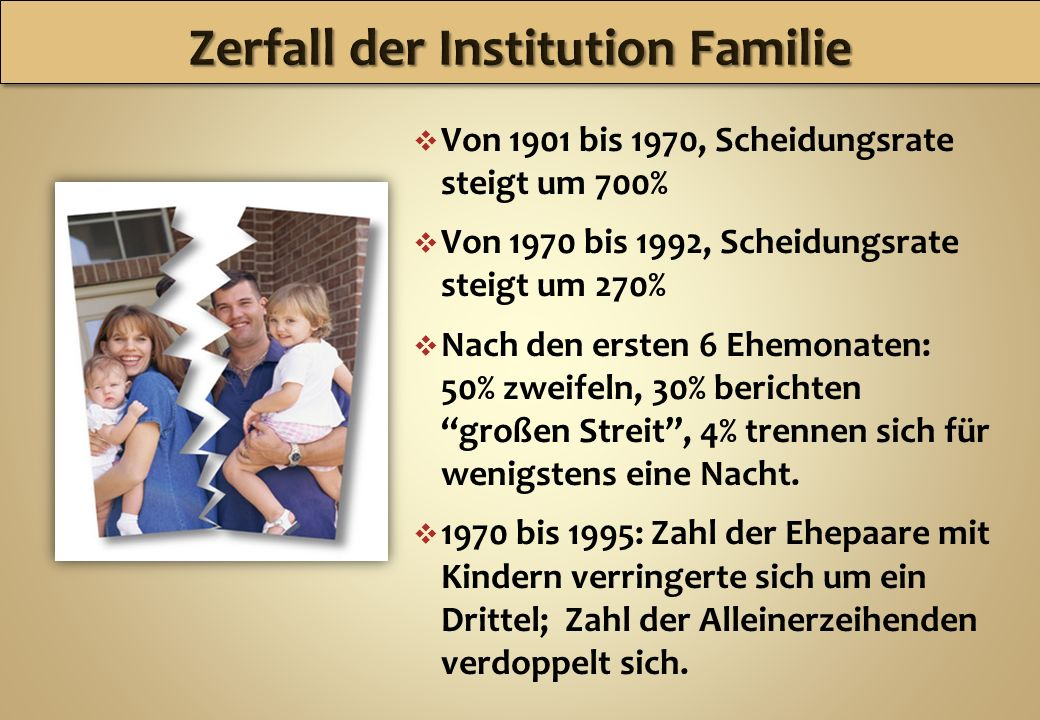 Zerfall der Institution Familie