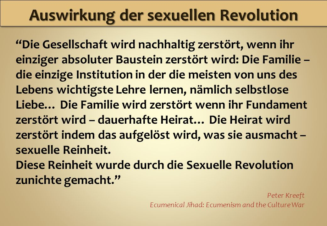 Auswirkung der sexuellen Revolution