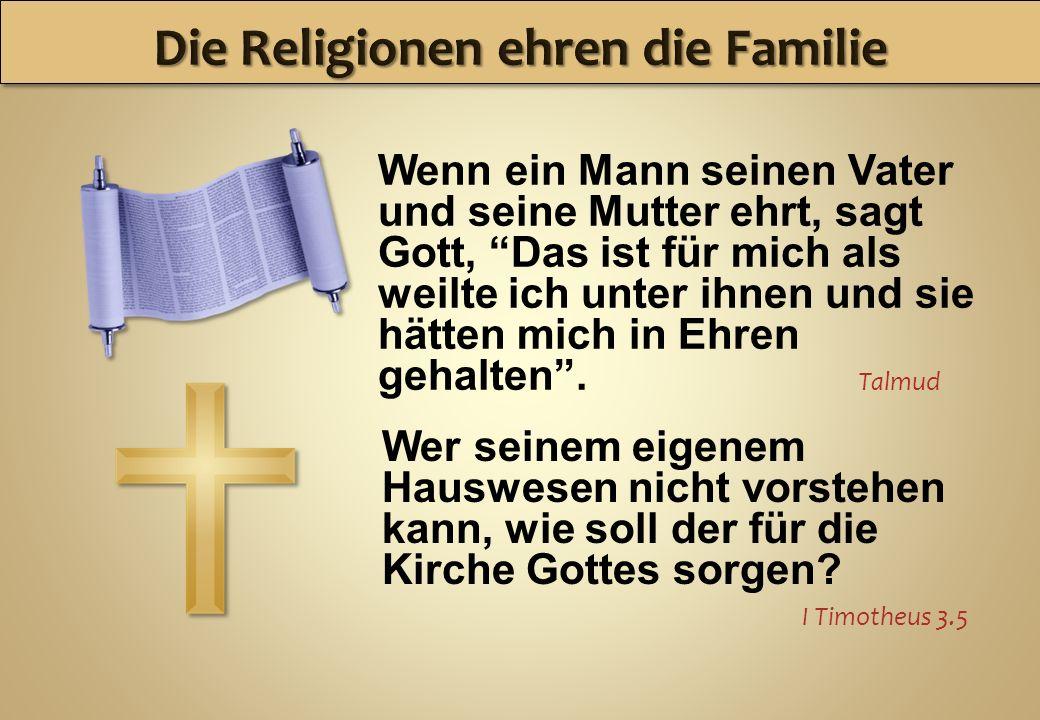 Die Religionen ehren die Familie