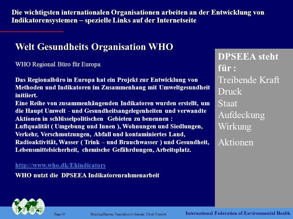 Welt Gesundheits Organisation WHO