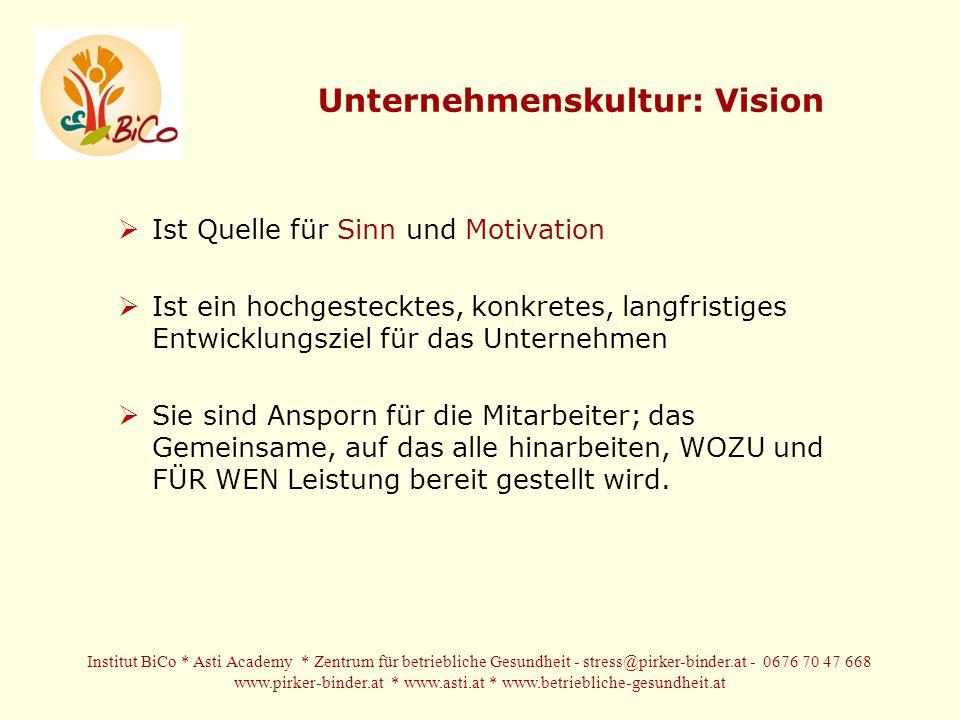 Unternehmenskultur: Vision