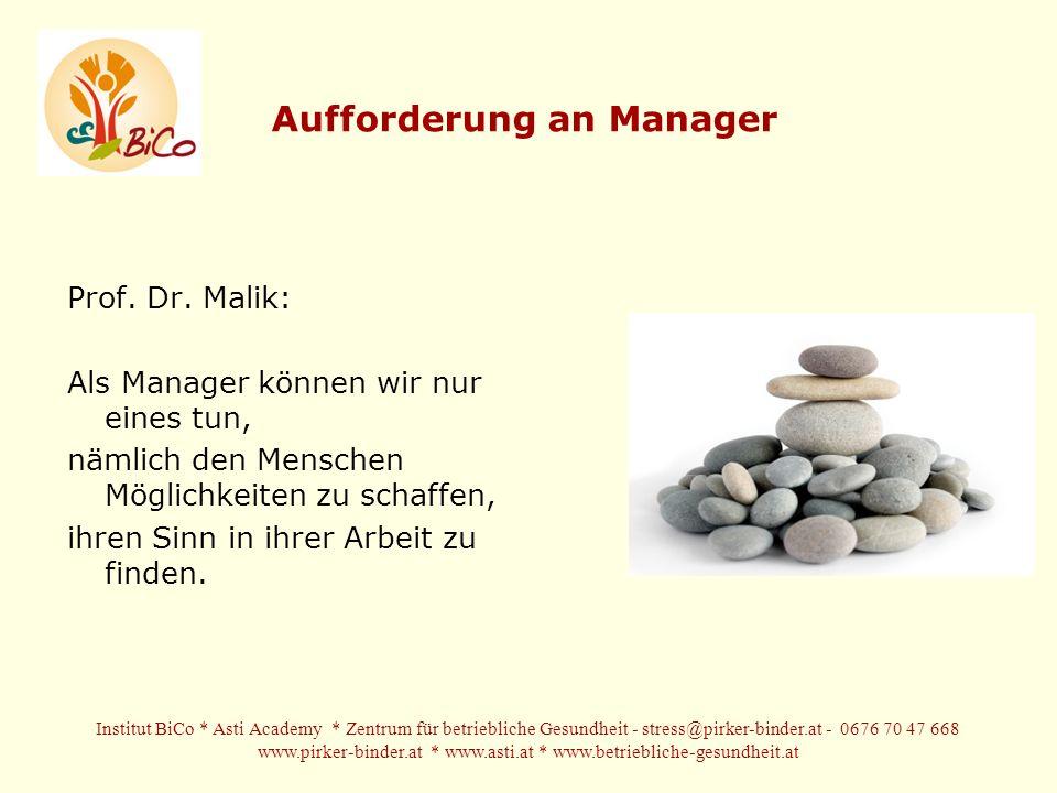 Aufforderung an Manager
