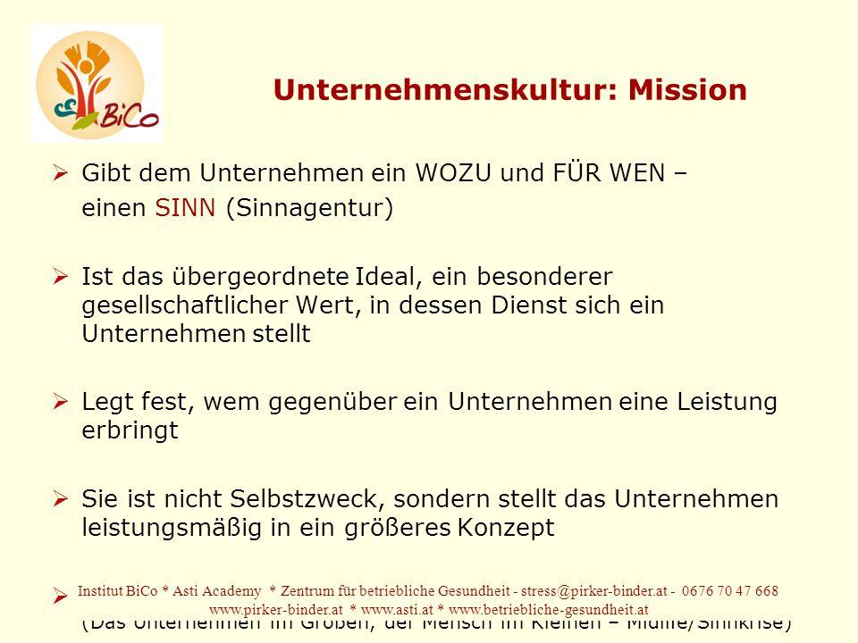 Unternehmenskultur: Mission
