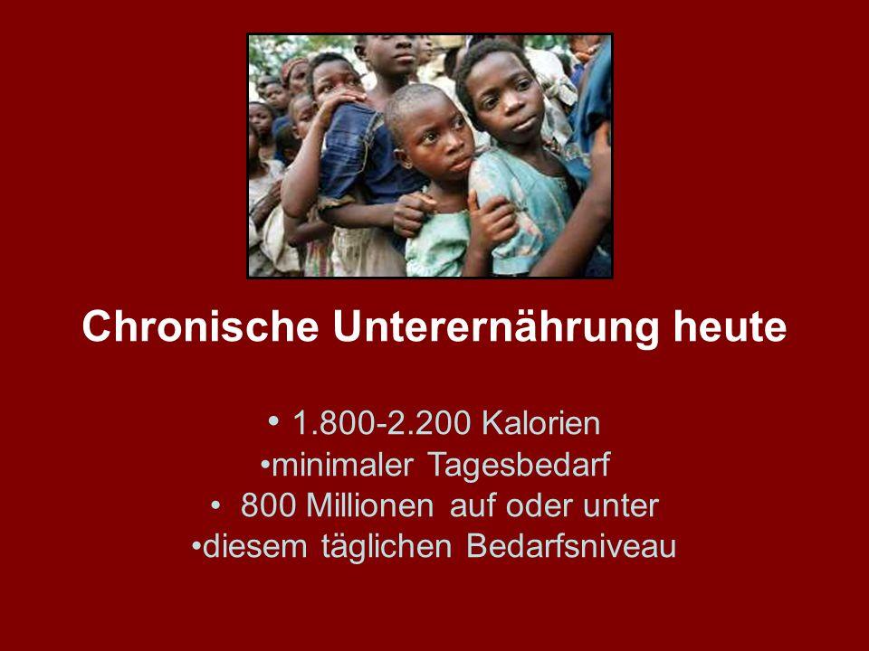 Chronische Unterernährung heute