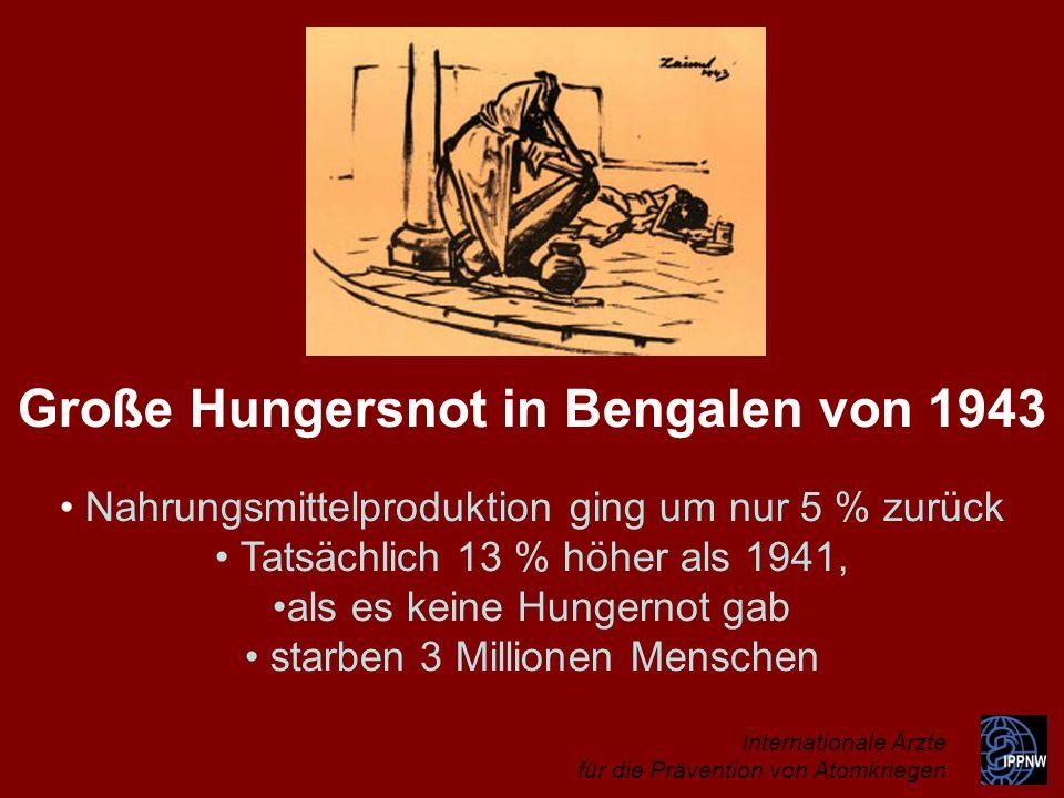 Große Hungersnot in Bengalen von 1943