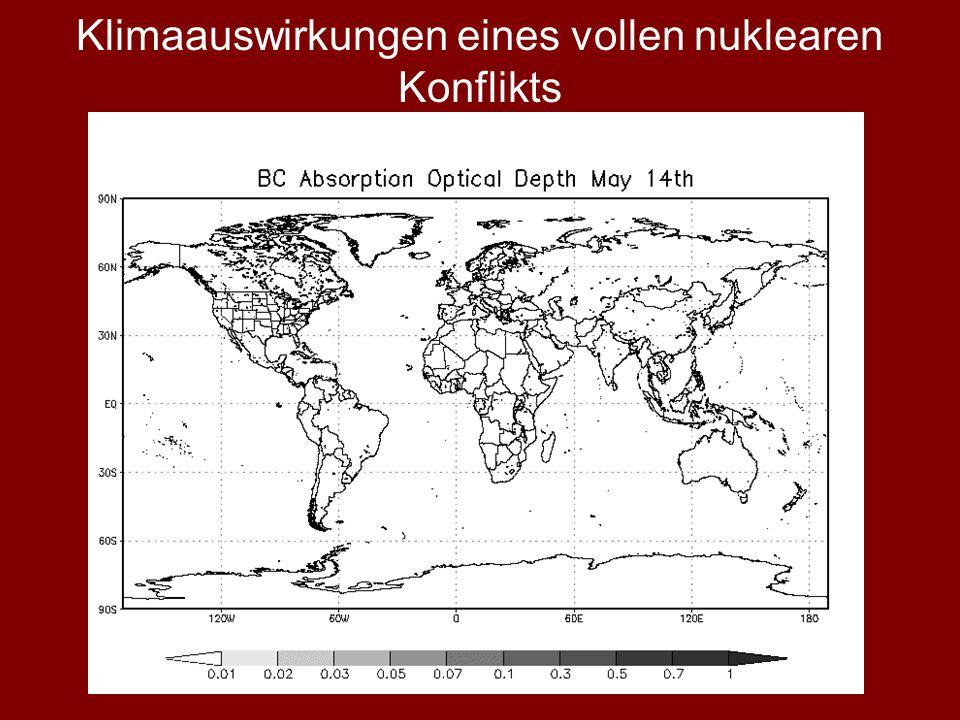 Klimaauswirkungen eines vollen nuklearen Konflikts