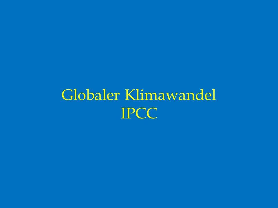 Globaler Klimawandel IPCC