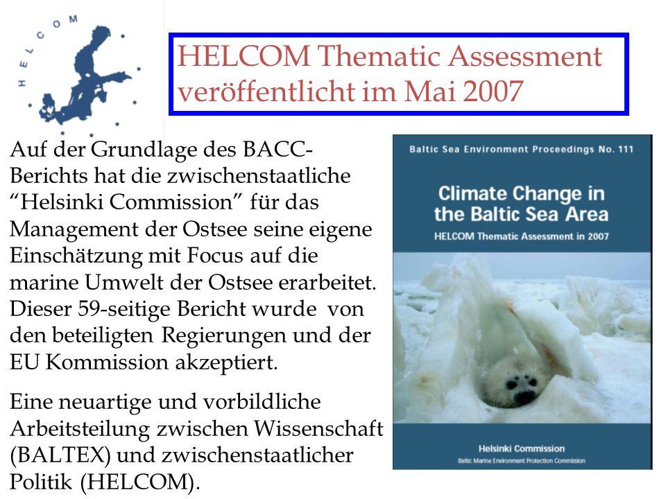 HELCOM Thematic Assessment veröffentlicht im Mai 2007