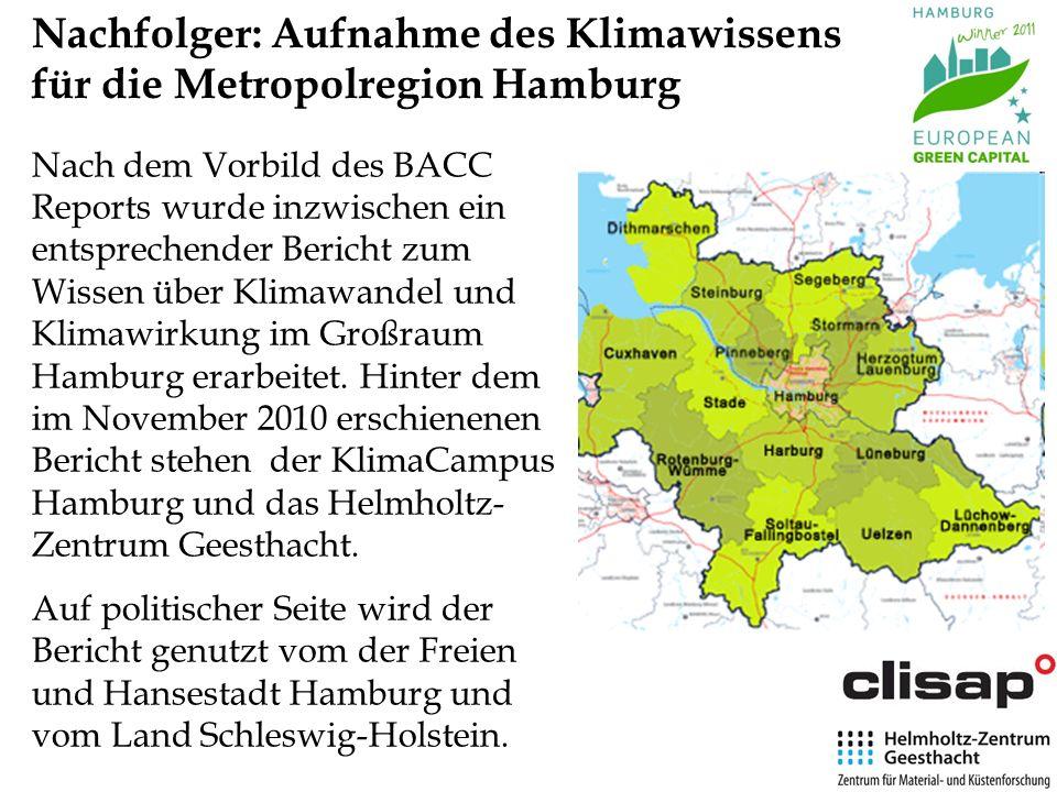 Nachfolger: Aufnahme des Klimawissens für die Metropolregion Hamburg