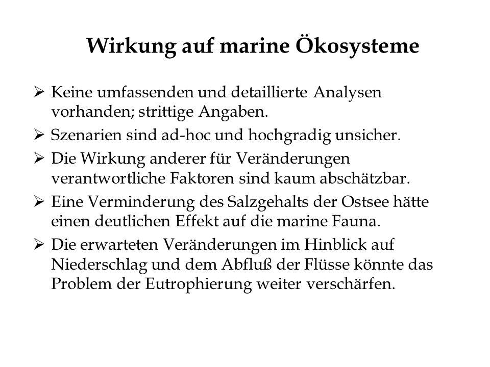 Wirkung auf marine Ökosysteme
