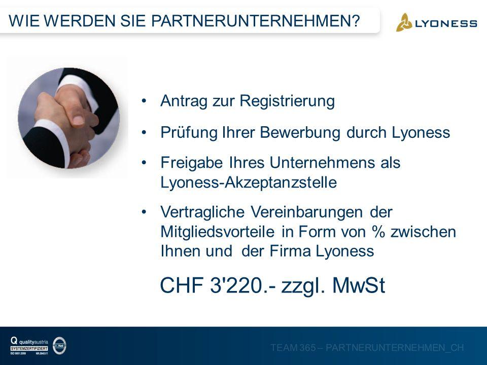 CHF 3 220.- zzgl. MwSt - KOSTENPUNKT -