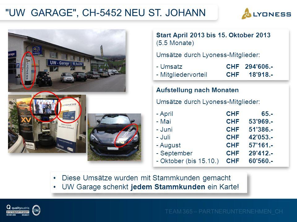 UW GARAGE , CH-5452 NEU ST. JOHANN
