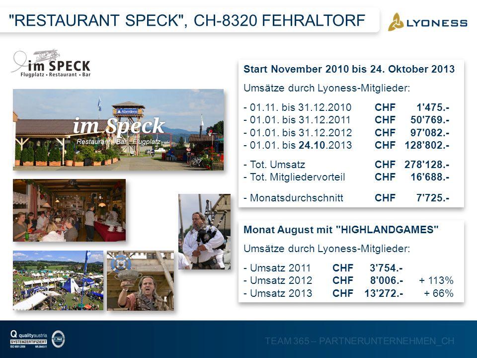 RESTAURANT SPECK , CH-8320 FEHRALTORF