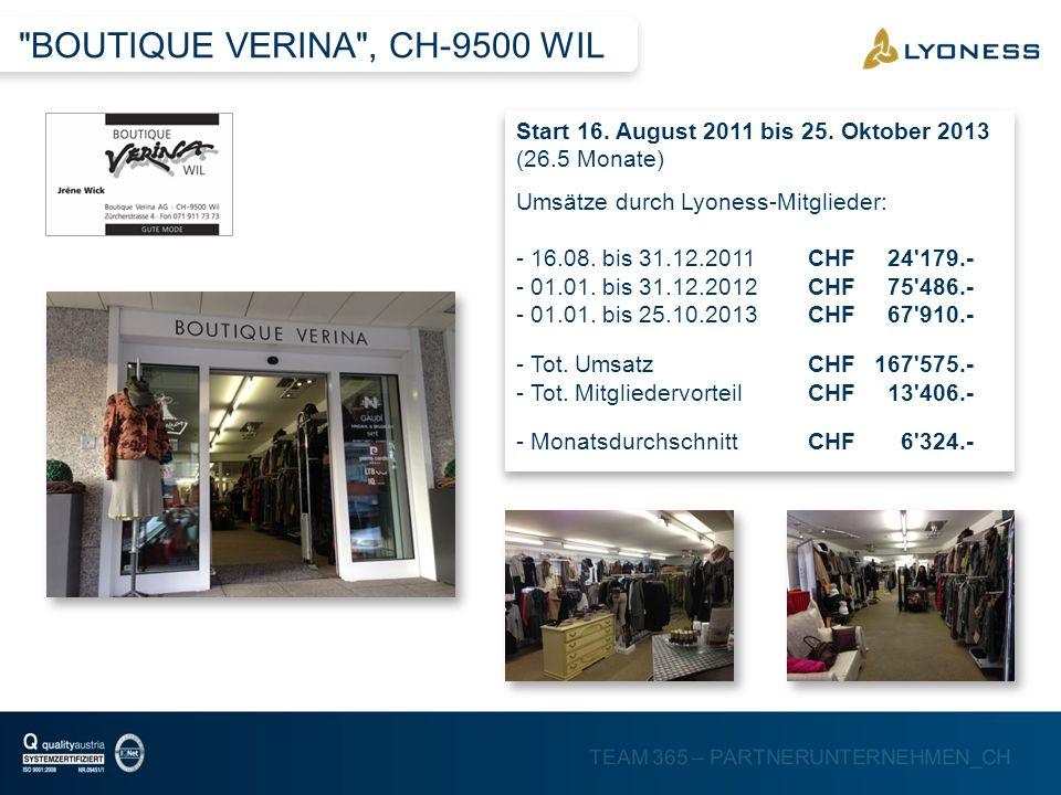 BOUTIQUE VERINA , CH-9500 WIL