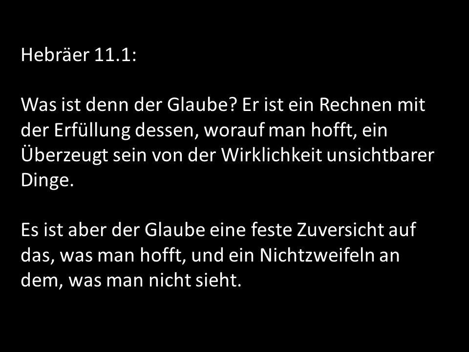 Hebräer 11.1: