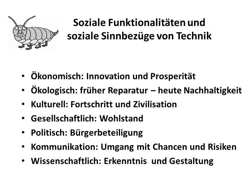 Soziale Funktionalitäten und soziale Sinnbezüge von Technik