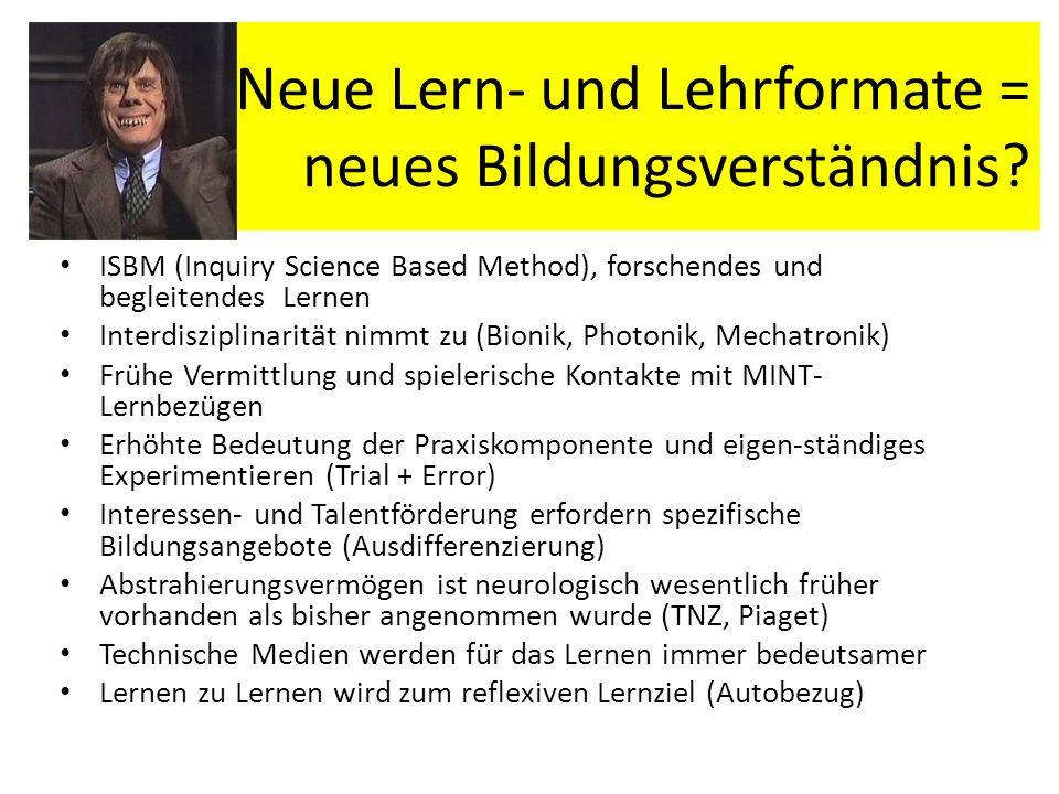 Neue Lern- und Lehrformate = neues Bildungsverständnis