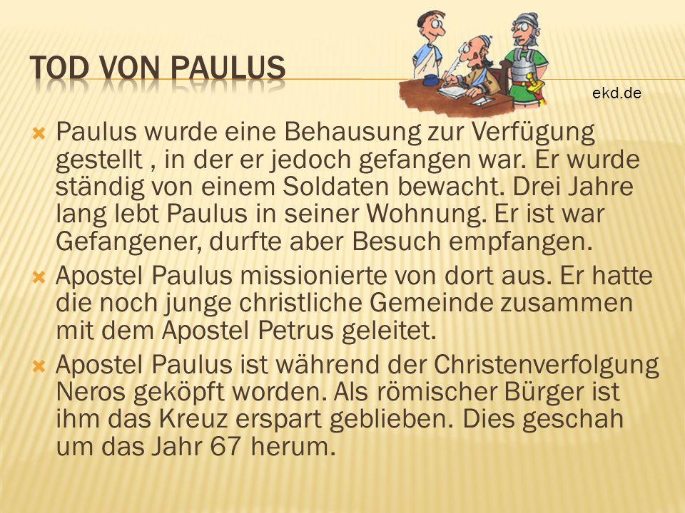 Tod von Paulus ekd.de.