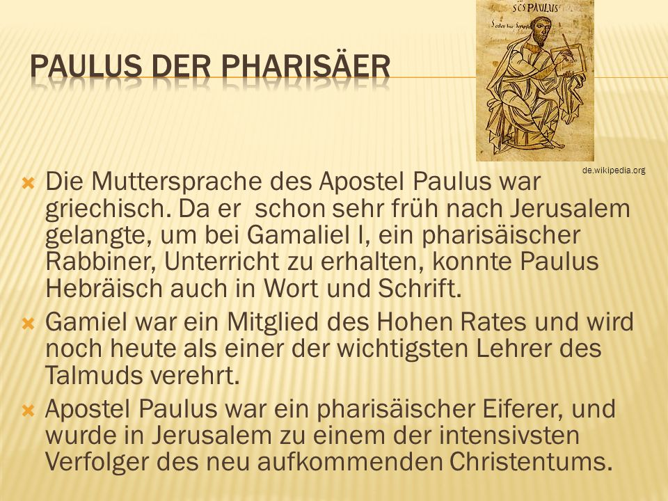 Paulus der Pharisäer de.wikipedia.org.