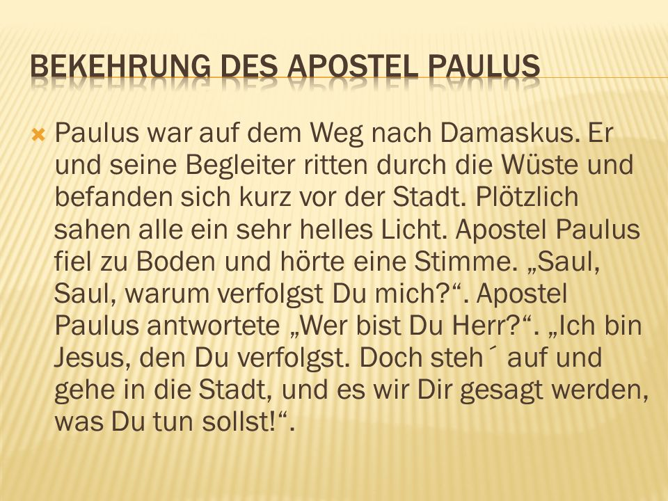 Bekehrung des Apostel Paulus