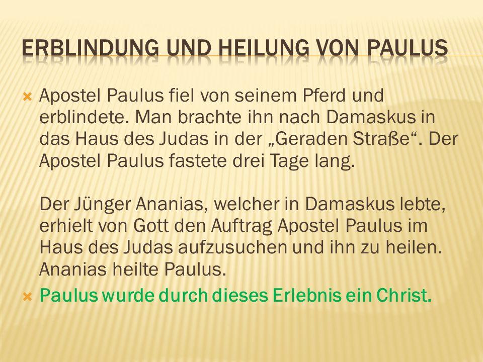 Erblindung und Heilung von Paulus