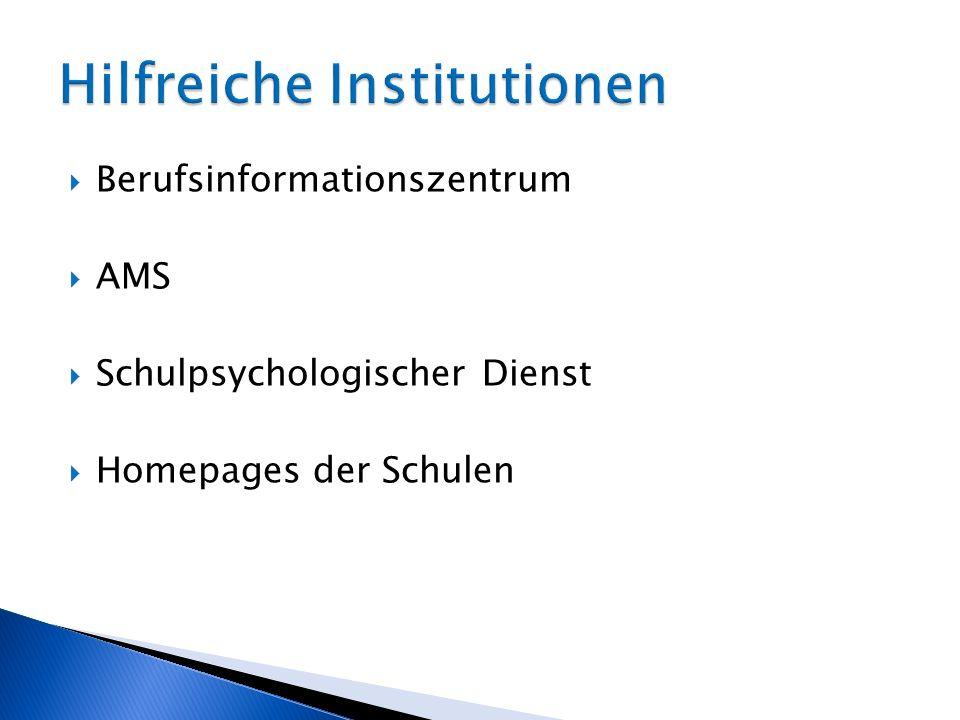 Hilfreiche Institutionen