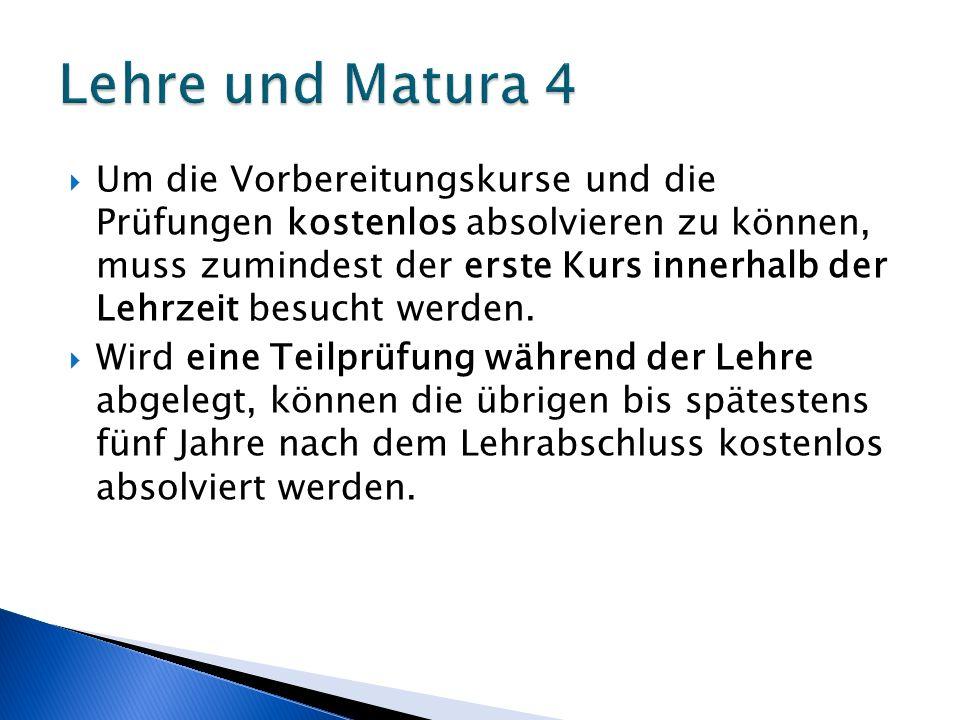 Lehre und Matura 4