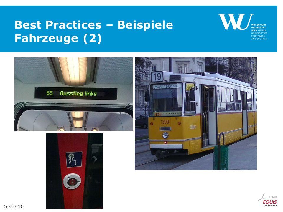 Best Practices – Beispiele Fahrzeuge (2)